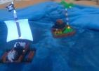 El marinero en la isla del tesoro